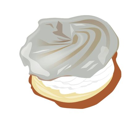 whipped cream: Dessert - wreath with whipped cream
