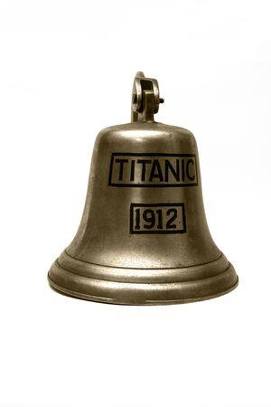 titanic: titanic ship  bell isolated on white background Stock Photo