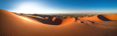 Panorama , Desert Rub 'al Khali, Emirates, Abu Dhabi Stock Photo