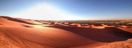 Panorama 2, Desert Rub al Khali, Emirates, Abu Dhabi, Liwa, Jan.2018 Stock Photo