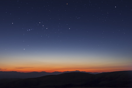 stars and sunset