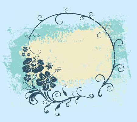floral frame 向量圖像