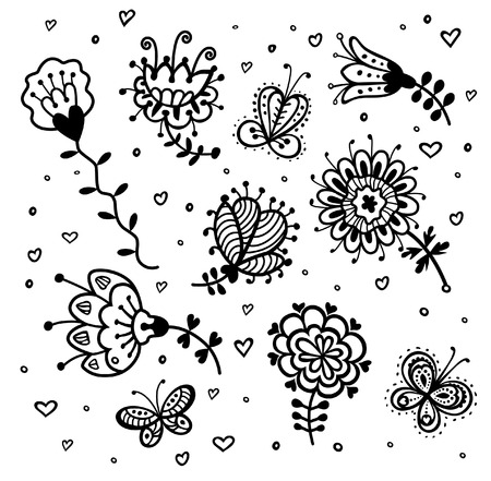 Decorative flowers 向量圖像