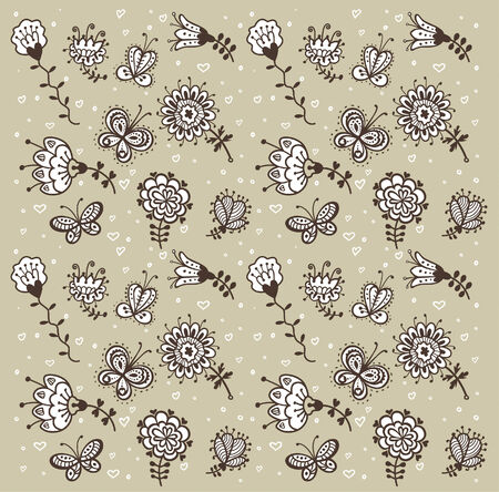 floral vector pattern background 向量圖像