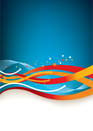 fluids: Abstract background - colorful arrows and lines Illustration