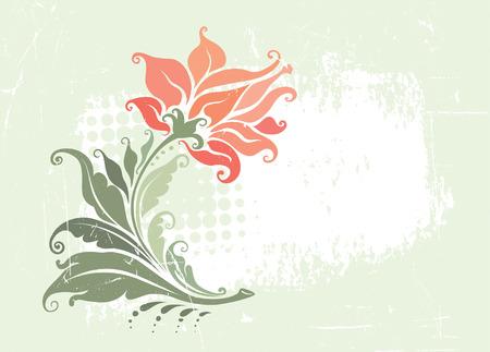 Decorative vintage floral frame