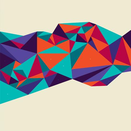 Vector Abstract Geometric Polygon Background. 일러스트