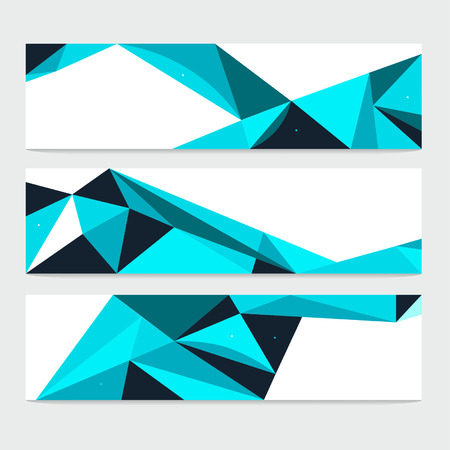 Vector Abstract Geometric Polygon Background. Header Set