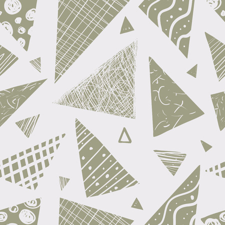 Vector seamless pattern. Abstract background triangles