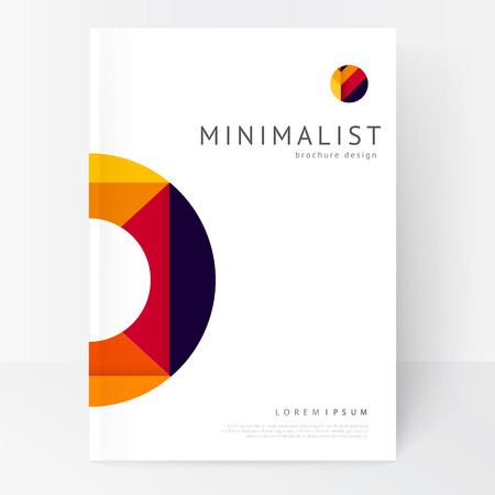 Minimalistic white brochure template. Book design creative concept cover for catalog, report, brochure. abstract geometric background.