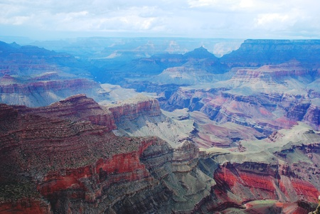 purple Grand Canyon in the blue fog Stock Photo - 16864386