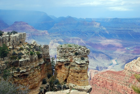 Grand Canyon scenic view of South Rim, Arizona, USA