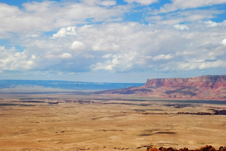 plains indian: heavenly  view of plains and plateaus of Arizona Stock Photo
