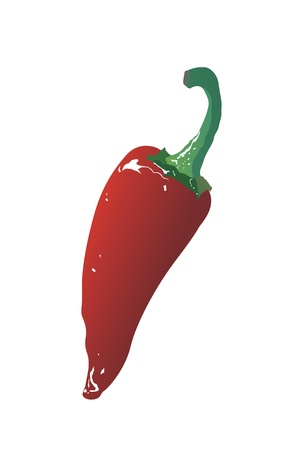 red hot chili pepper isolated on a white background Stock Vector - 17014049