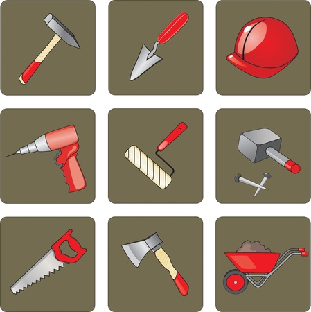 various instruments and tools for the construction and repair