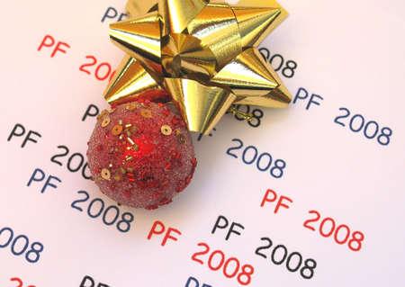 pf: PF 2OO8 with red Christmas ball