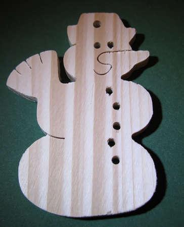 Wooden snowman photo