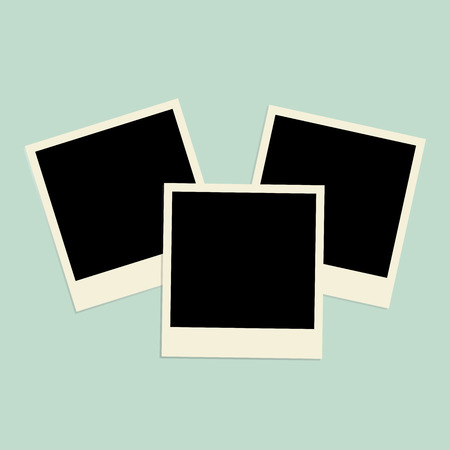 Set of photos frames. Vector illustration photoframes for picture