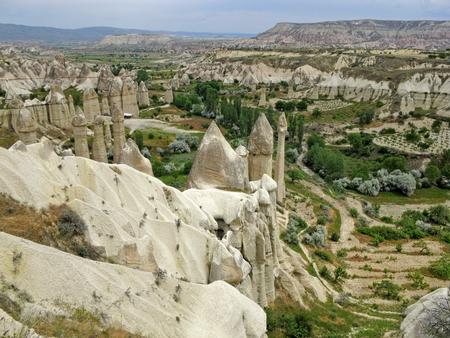 pidgeon: Drop-down view of Pidgeon Valley. Anatolian Plateau in Cappadocia. Turkey.