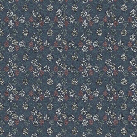 Abstract vector seamless pattern on blue background. Vintage vector texture Ilustração