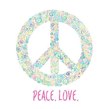 Peace Sign Anti War Symbol On Black Background Royalty Free