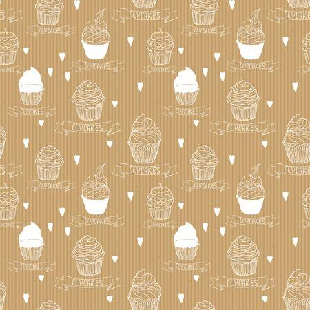 papel artesanal: Papel del arte de la textura sin fisuras con pastelitos