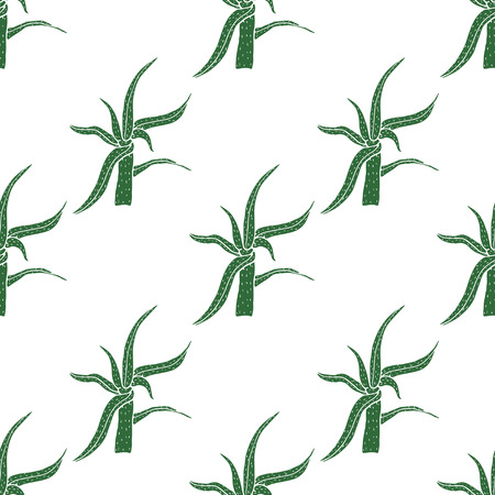 vera: Seamless vector pattern with aloe vera.