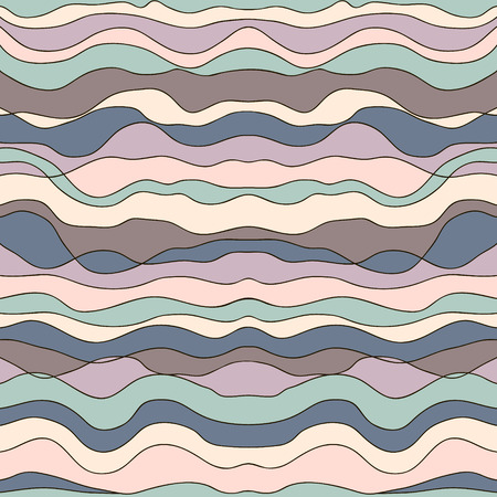 Abstract seamless Doodle Pattern with wave.