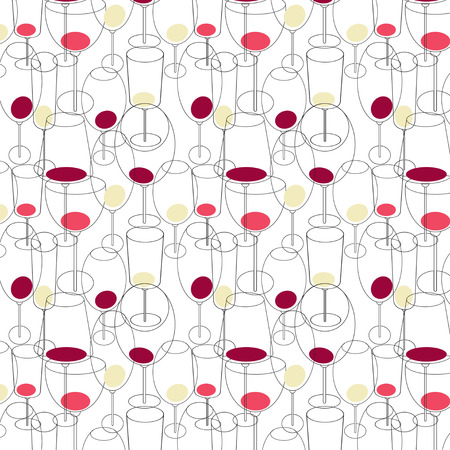 limpid: Seamless pattern with wine glasses. Vector illustration Illustration