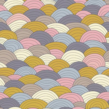 Naadloze golfpatroon. Vintage gekleurde achtergrond. Vector Illustratie