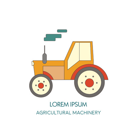 agricultural machinery: Tractor vector icon. Agricultural machinery. Vector illustration