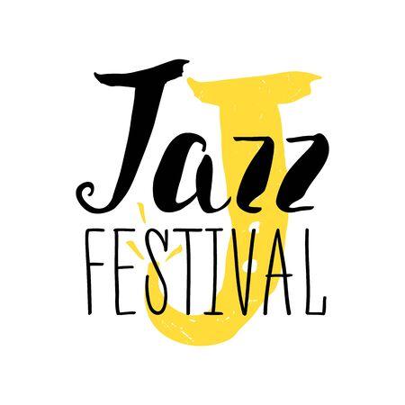 woodwind: Jazz festival poster design. Music poster illustration and calligraphy. Illustration Illustration