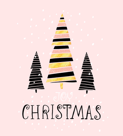 Joy christmas winter holiday saying hand drawn greeting card joy christmas winter holiday saying hand drawn greeting card with handwritten lettering and christmas m4hsunfo