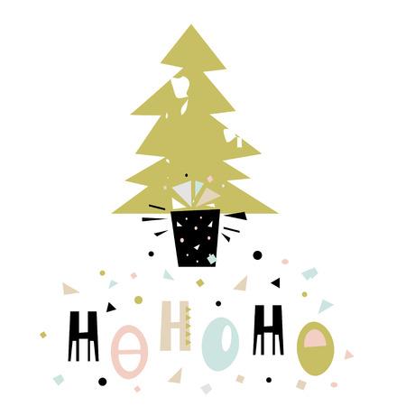 Hohoho winter saying christmas greeting background holiday hohoho winter saying christmas greeting background holiday winter template with m4hsunfo