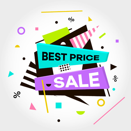 Best Price. Sale. Special Offer text. Vector Illustration