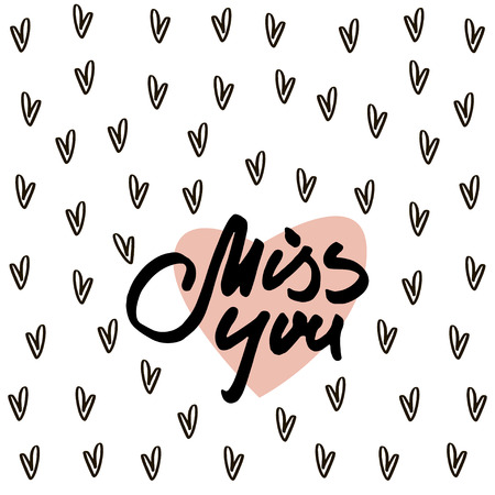 Miss You Text On Background With Hearts Ckground For Wedding