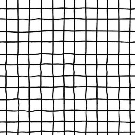 Seamless pattern with hand drawn ink shapes. Trendy black and white background. Great for fabric, textile, wrapping. Vector Illustration