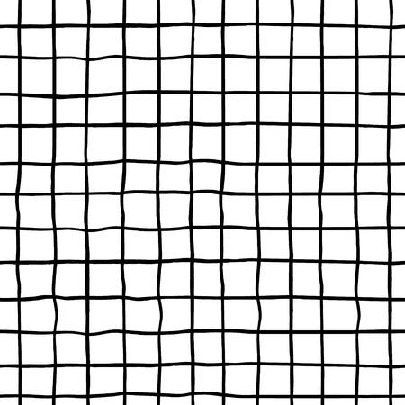 手でシームレスなパターンは、インク図形を描画します。流行の黒と白の背景。布、繊維、包装に最適です。ベクトル図  イラスト・ベクター素材
