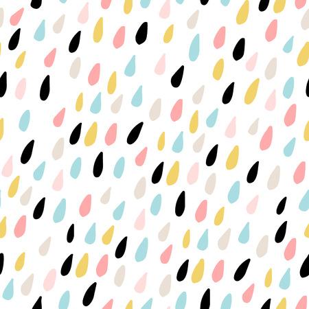 Ładny wzór z kolorowych kropli wody. Dziecinna tekstura tkaniny, tkaniny. Ilustracja wektorowa Ilustracje wektorowe