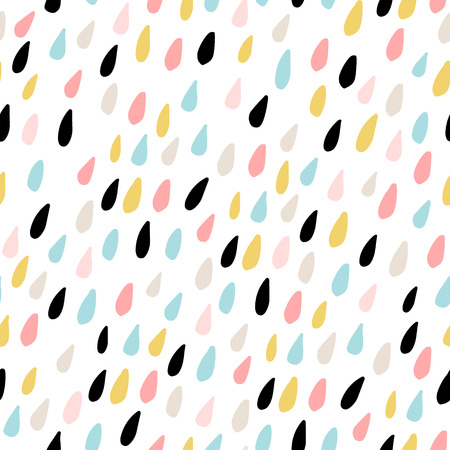 Joli modèle sans couture avec des gouttes d'eau colorées. Texture enfantine pour le tissu, textile.Vector Illustration Vecteurs