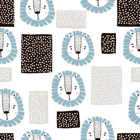 Leeuw tekening patroon. Stock Illustratie