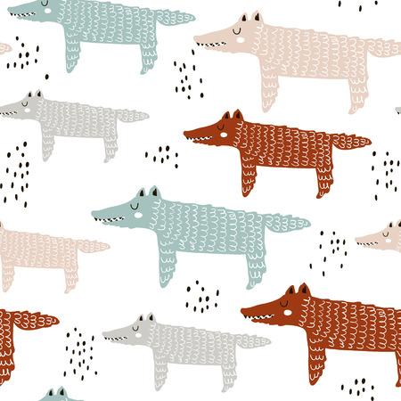 Wolf drawing pattern.