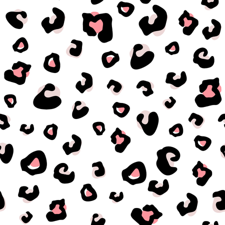 Seamless animal pattern with leopard dots . Creative monochrome texture for fabric, wrapping, textile, wallpaper, apparel. Vector illustration