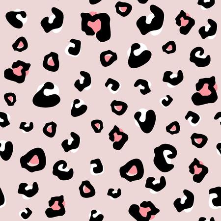Modello animale senza cuciture con puntini di leopardo. Texture monocromatica creativa per tessuti, confezioni, tessuti, carta da parati, abbigliamento. Illustrazione vettoriale Vettoriali