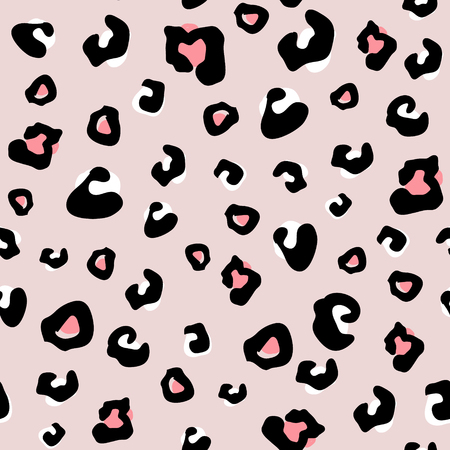 Motif animal sans couture à pois léopard. Texture monochrome créative pour tissu, emballage, textile, papier peint, vêtements. Illustration vectorielle Vecteurs