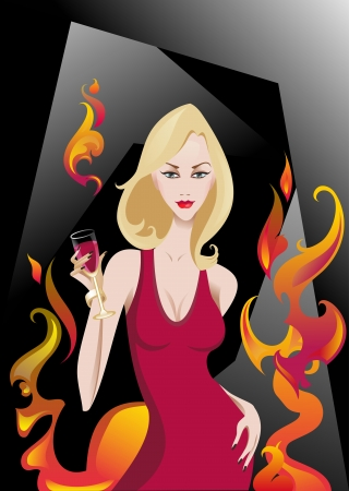 The illustration of the Glamour Girl Stock Vector - 16026665
