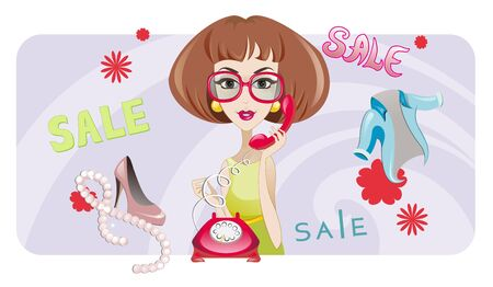 The illustration of the Woman of Fashion Stock Vector - 16026668