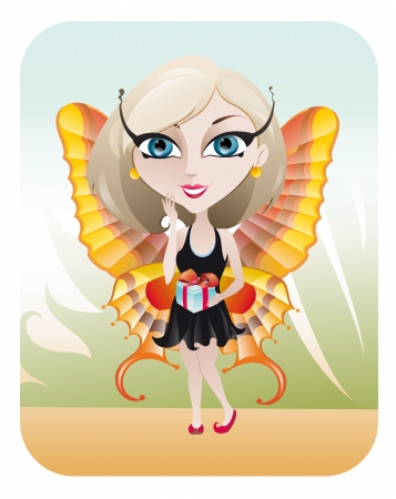 The illustration of the Spring Fairy Stock Vector - 16026673