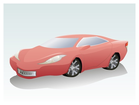 The vector illustration of the Sport Car