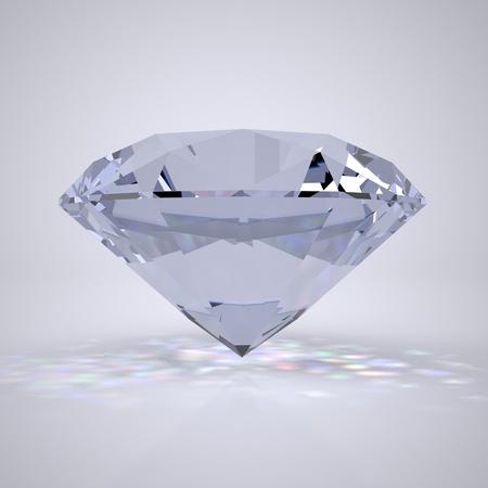 Die Dreidimensionale Hell beleuchtet Diamant Lizenzfreie Bilder